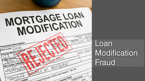 Loan modification fraud